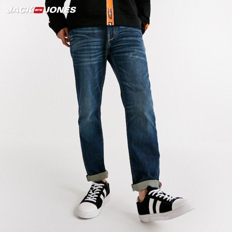 JackJones Men's Spring Slim Fit Stretch Blue Crop   Jeans   J|218332603