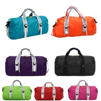 High Quality Unisex 210 Waterproof Nylon Large Capacity Ultralight Foldable Outdoor Gym Bag Sports Bags Travel
