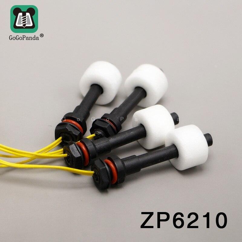 Free Shipping ZP6210 5Pcs M10*62mm 100V 220V Float Switch Mini Type Poly Propy Water Level Liquid Sensor Normal Close NC