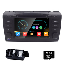 Head Unit Touch Screen Car DVD Player for Mazda3 Mazda 3 2004-2009 GPS Navigation System 3G USB Radio+FREE 8G MAPS REAR VIEW CAM
