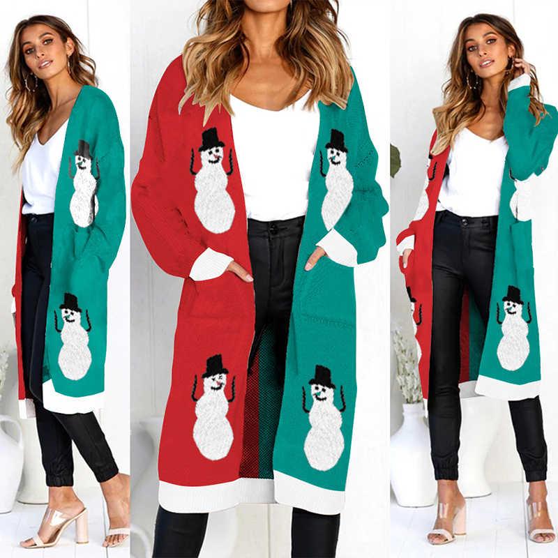 Свитер женский modis свитера длинный кардиган Леопардовый уличная вязаная летние кардиганы Рождественская Женская одежда с длинными рукавами
