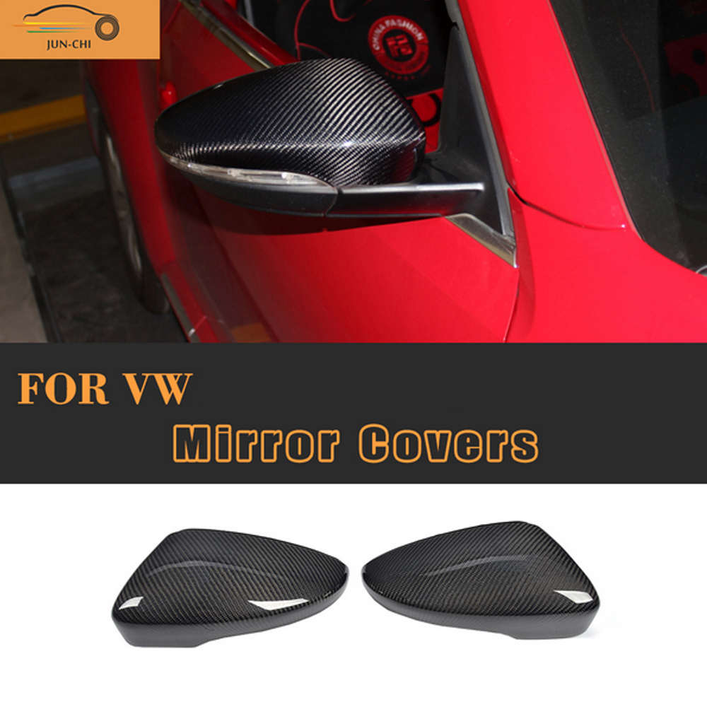 Carbon Fiber side Replace Mirror molding trims cover for Volkswagen VW Passat CC 09-17 Beetle Coupe 13-17 Scirocco 08-13 Non R