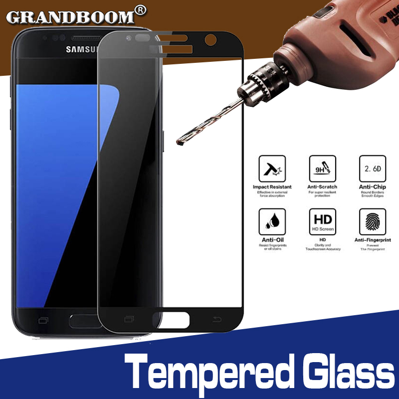 1000pcs Full Cover Tempered Glass For Samsung S7 S6 Note 5 C5 C7 C8 C9 Pro Scratch Proof Ultra Slim Anti-knock Screen Protector