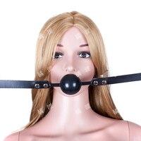 2015 Silica gel ball plug soft gum mouth yoke hush supplies  mouth  restraints mouth gag sex toys sex mouth
