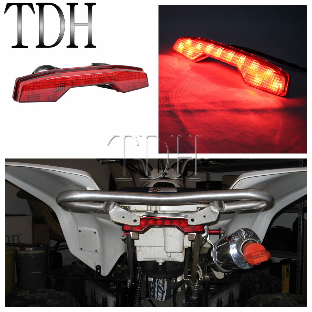 Red LED ATV Quadsport Taillights Brake Stop Light Rear Lamp For Suzuki LTR450 LTR 450 All Year