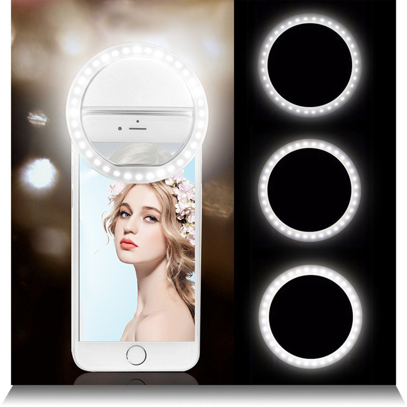 Make Up Mirror For Phone Selfie Ring Light With 36 Led Lamps Portable Multi-Purpose Phone Light With Three Brightness Levels