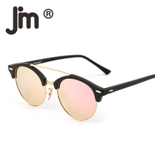 JM Wholesale 10pcs/lot Retro Polarized Mirrored Tinted Round Sunglasses Circle Lens Men Women Vintage Sun Glasses Fashion