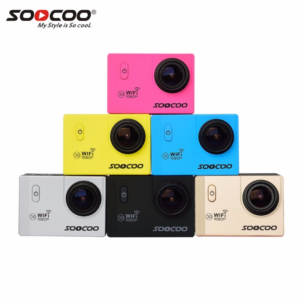 SOOCOO C10S Full HD 1080P 12MP 2.0 Inch LCD Sports Action Camera 170 Degrees Wide Angle Lens Waterproof Wifi Camera Mini DV gitup git1 1 5 inch lcd wifi rf control action camera
