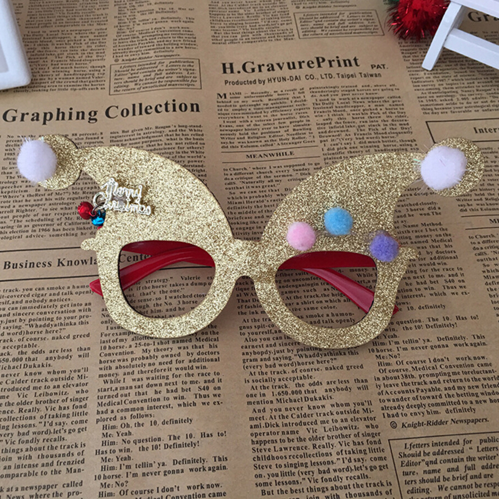 Logical Novelty Christmas Decoration Glasses Children Christmas Gifts Holiday Supplies Paper Led Party Creative Glasses Men's Glasses