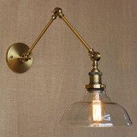 Nordic estilo LOFT lâmpada de design moderno de vidro decorativo arandela café bronze