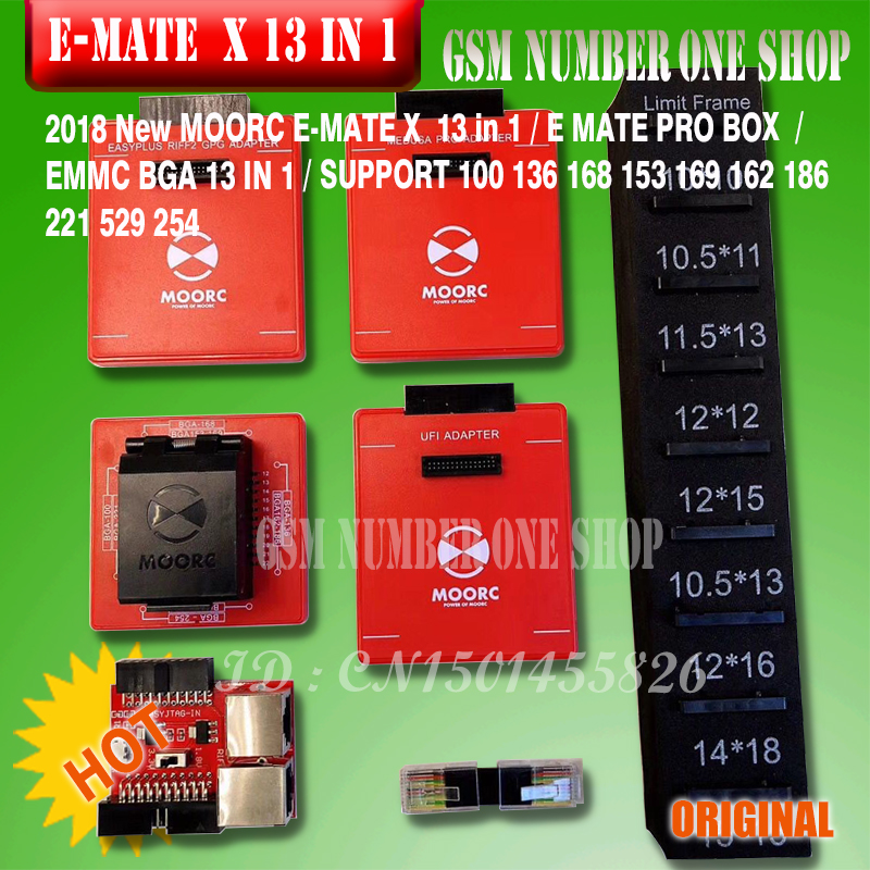 2019 Original New Moorc E-socket Moorc E Mate Pro Box E-mate X Emmc Bga 13 In 1 Support 100 136 168 153 169 162 186 221 529 254 Communication Equipments