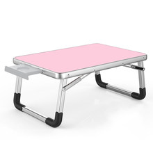 Outdoor folding computer desk Laptop Desk 60*40cm Adjustable Folding Laptop Notebook PC Desk Table Stand Portable Bed Tray(China)