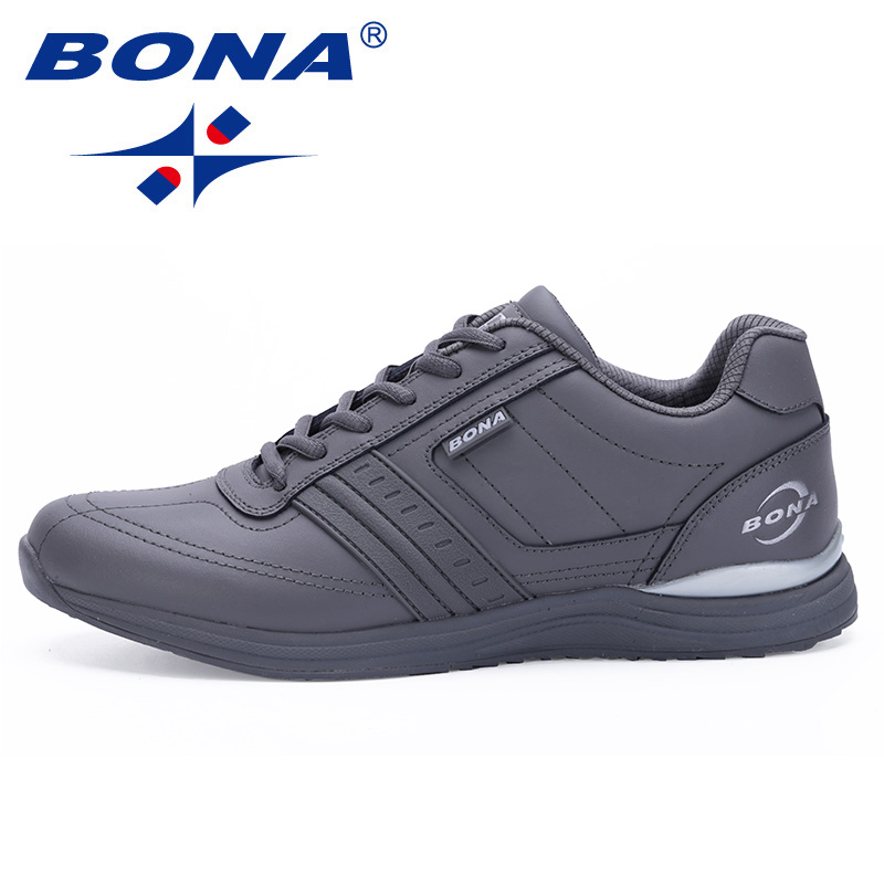 BONA New Hot Style Men Walking Shoes Lace Up Sport Shoes Outdoor Jogging Athletic Shoes Comfortable Men Sneakers Free Shipping свитшот print bar i love the empire