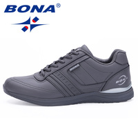 BONA New Hot Style Men Walking Shoes Lace Up Sport Shoes Outdoor Jogging Athletic Shoes Comfortable Men Sneakers Free Shipping