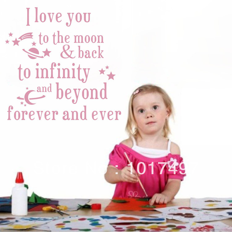 I Love You Quotes: Aliexpress.com : Buy I Love You To The Moon And Back