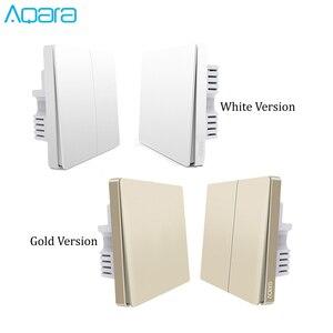 Image 5 - 2019 yeni yükseltme orijinal Aqara duvar anahtarı akıllı işık ZigBee anahtarları uzaktan kumanda altın versiyonu için apple homekit