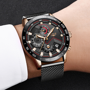 Image 5 - Relogio Masculino 2019 LIGE Mens Watches Top Brand Luxury Quartz Watches Men Casual Slim Mesh Steel Date Waterproof Sport Watch
