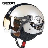 Beon vintage Motorcycle helmet capacete motorcycles motorbike helmet DOT approved summer half helmets casco motorcycle