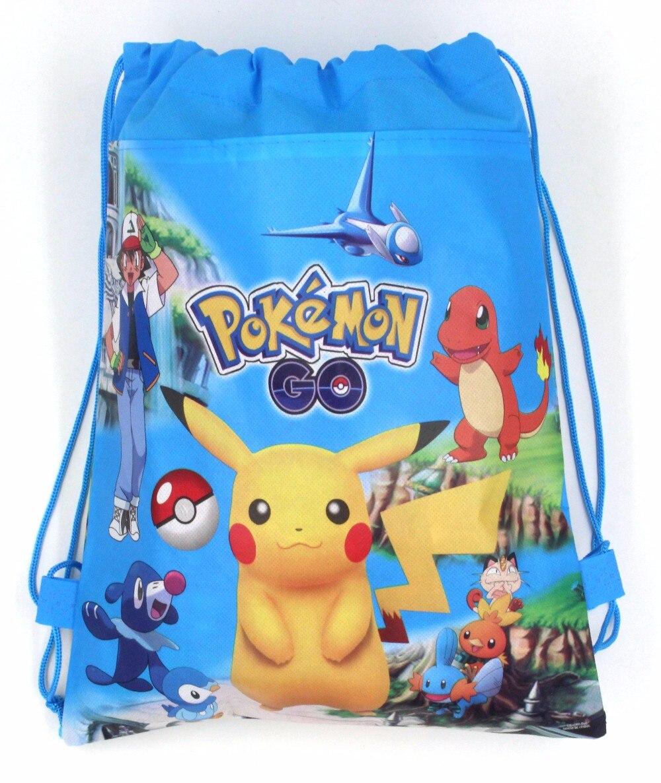 20 stücke 34 * 27 cm Pokemon Gehen vlies taschenstoffe kordelzug - Partyartikel und Dekoration - Foto 4