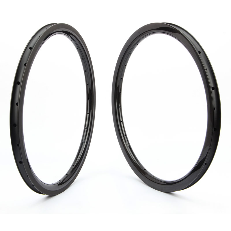 Road Bike wheels 20 Carbon Rims Clincher 25/30mm Width Carbon Road Bike Wheel Rim 406 Carbon 30/38/50mm 3K Matte Customized