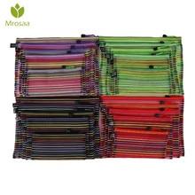 Mrosaa A4 A5 B4 B5 B6 цветная Водонепроницаемая нейлоновая Прозрачная сетка zippe сумка папка для файлов канцелярские принадлежности для хранения школьные принадлежности