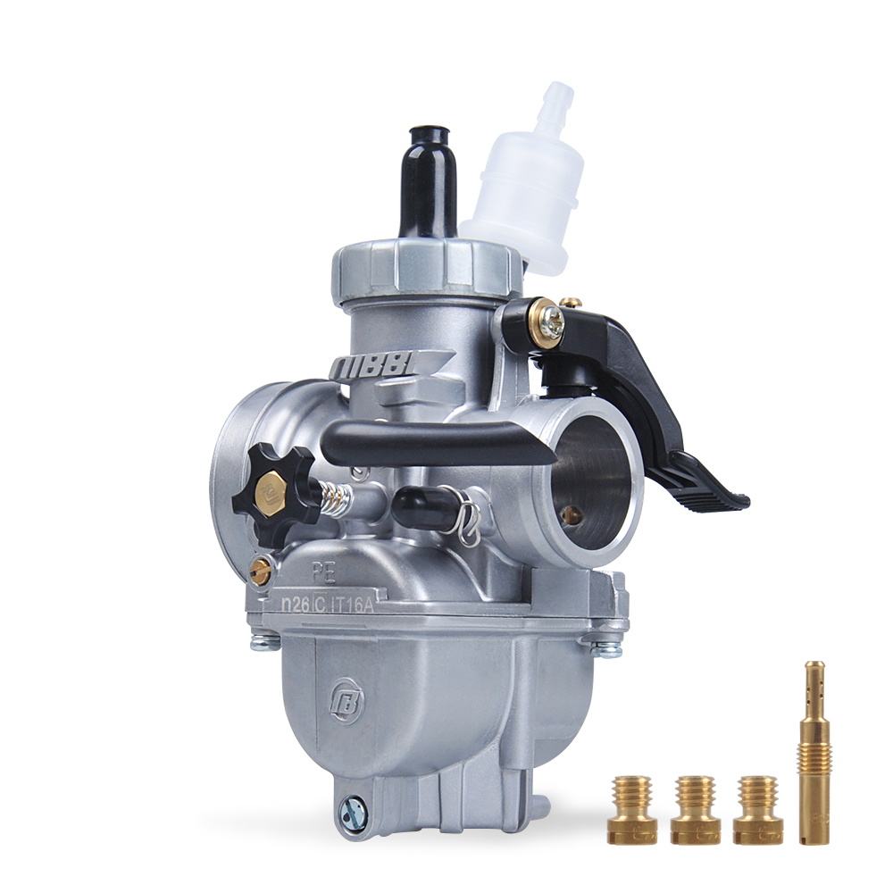 NIBBI Motorcycle Modified Replacement Carburetor PE26mm for GY6125 Scooter Moped Dirt Bike Mini Bike TTR SSR125 DT125  CB125 carburetor for jinlang 250 water cooling scooter and motorcycle