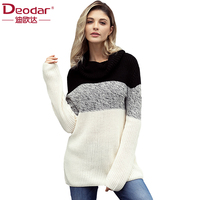 Deodar Autumn Winter Sweater Women 2018 Patchwork Knit High Elastic Jumper Women Sweaters And Pullovers Female Tops Pull Femme