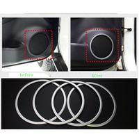4Pcs Set ABS Chrome Door Stereo Speaker Ring Cover Speaker Trim Sticker For Nissan Xtrail X