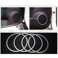 4Pcs Set ABS Chrome Door Stereo Speaker Ring Cover Speaker Trim Sticker For Nissan Xtrail X