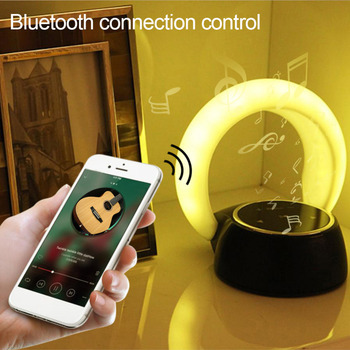 Mini Portable Touch 14 LED night light USB Charging Wireless Bluetooth Speaker