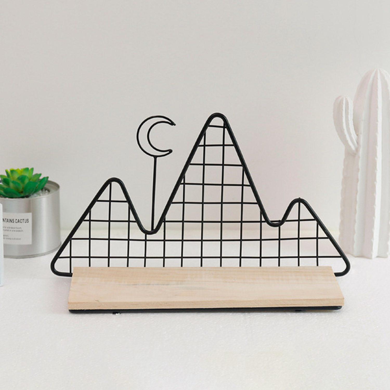 Lixf Nordic Ins Stijl Kamer Ornament Geometrische Smeedijzeren Muur Slaapkamer Creatieve Wandplank
