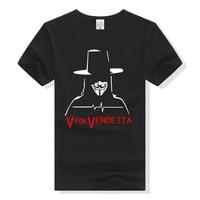 TEEWINING V Wie Vendetta T-shirt Männer T-shirt Baumwolle T Plus Größe T-Shirt Streetwear