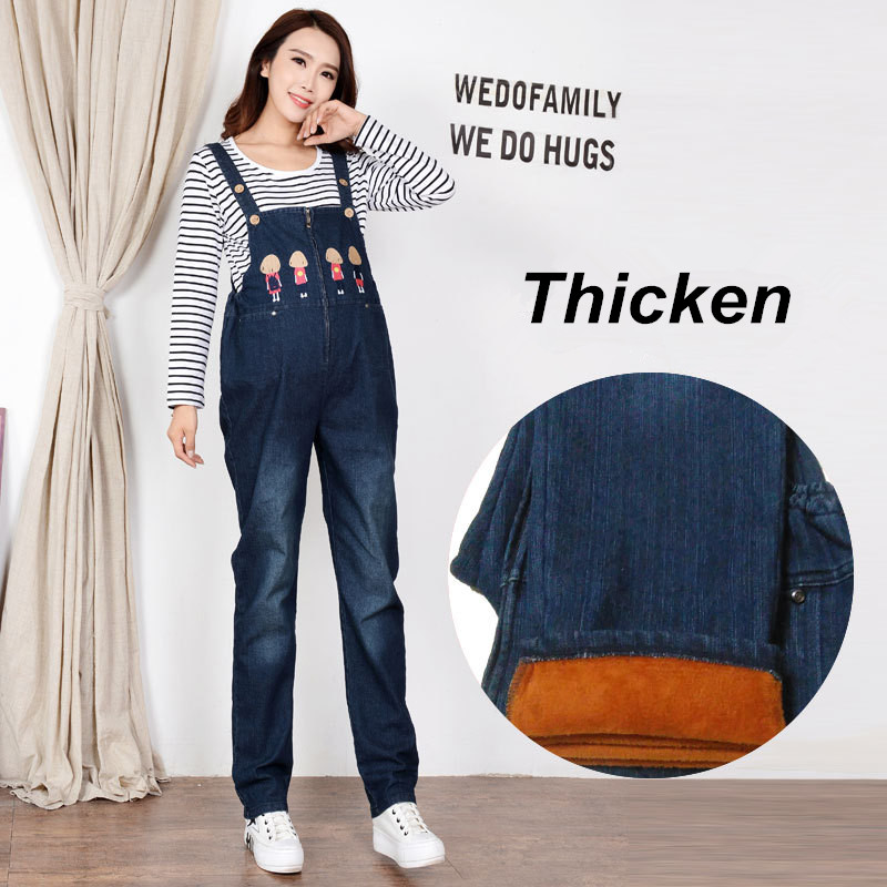 Maternity Clothes Trousers Cotton Winter Pregnant Woman Denim Overalls Pregnancy Clothes Jeans For Pregnant Women Pants Uniforms купить в Москве 2019