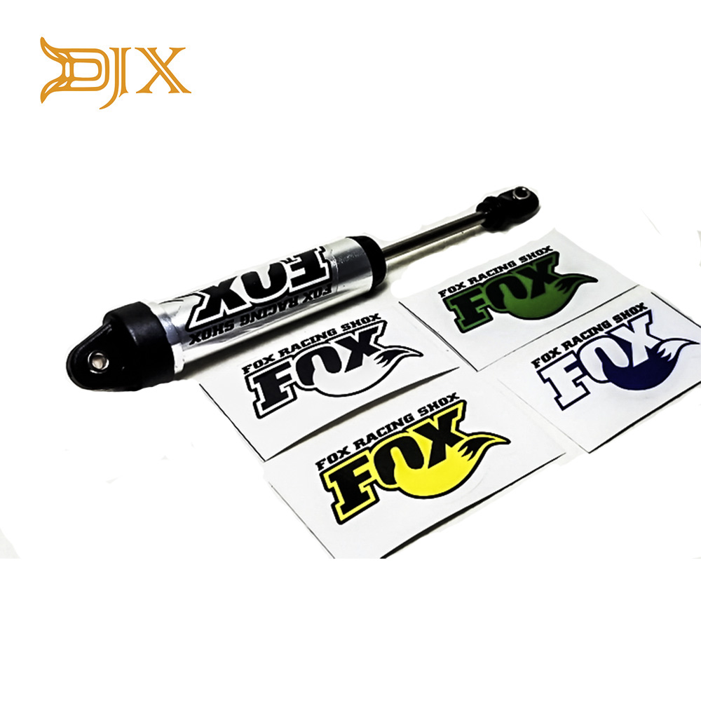 4PCS PVC FOX Shock Absorber Sticker Decal For 1/7 Traxxas Unlimited Desert Racer UDR