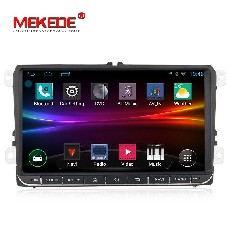 Voiture lecteur Multimédia Android Quad core GPS Autoradio 2 Din Pour Skoda Octavia Fabia Rapide Yeti Superbe Siège de voiture dvd lecteur