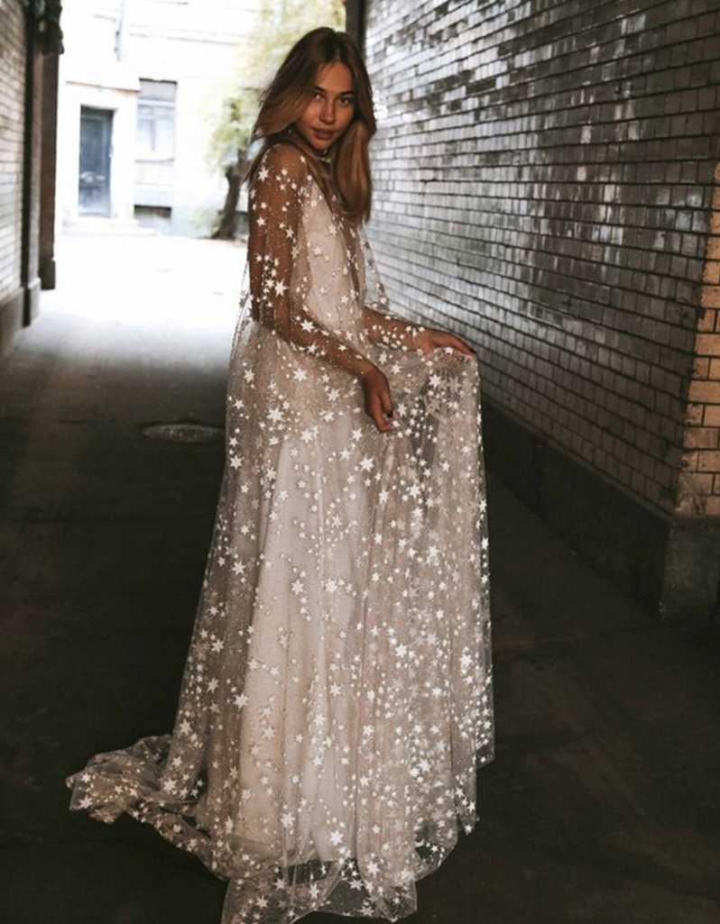 2019 החדש Boho פאייטים חתונה שמלות קיץ חוף Boho שיק כפרי כלה שמלות בוהמי כלה שמלת robe de mariage
