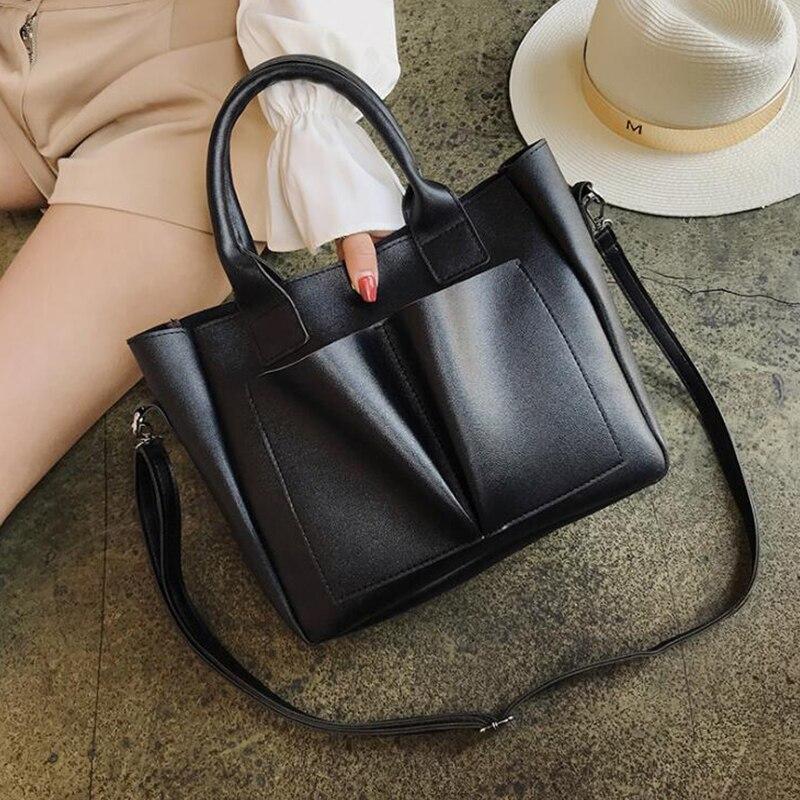 CROWDALE Women Shoulder Bags Handbag Casual PU Leather Bag Luxury Messenger Bags Female High Quality Tote Crossbody bag fashion