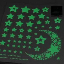 Moon Star Fluorescence Glow in Dark Luminous Vinyl Removable Kids Child Bedroom Wall Stickers