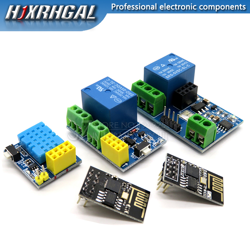 ESP8266 5V WiFi relay module DS18B20 DHT11 RGB LED Controller Things smart home remote control switch phone APP ESP-01 ESP-01S