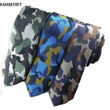 New Camouflage Navy Blue 6cm Slim Neck Ties Jacquard Tie for Men Neckwear Man Style Narrow Neckcloth Cheap-neckties цена 2017
