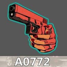 Bevle A0772 Gun Skateboard Graffiti Notebook Motor Stickers Decal Fridge Waterproof Sticker for Cars