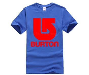 Burton Snowboards - Custom T-shirt Tee Hipster Tees Summer Mens T Shirt New Short Sleeve Round Collar White Style 1