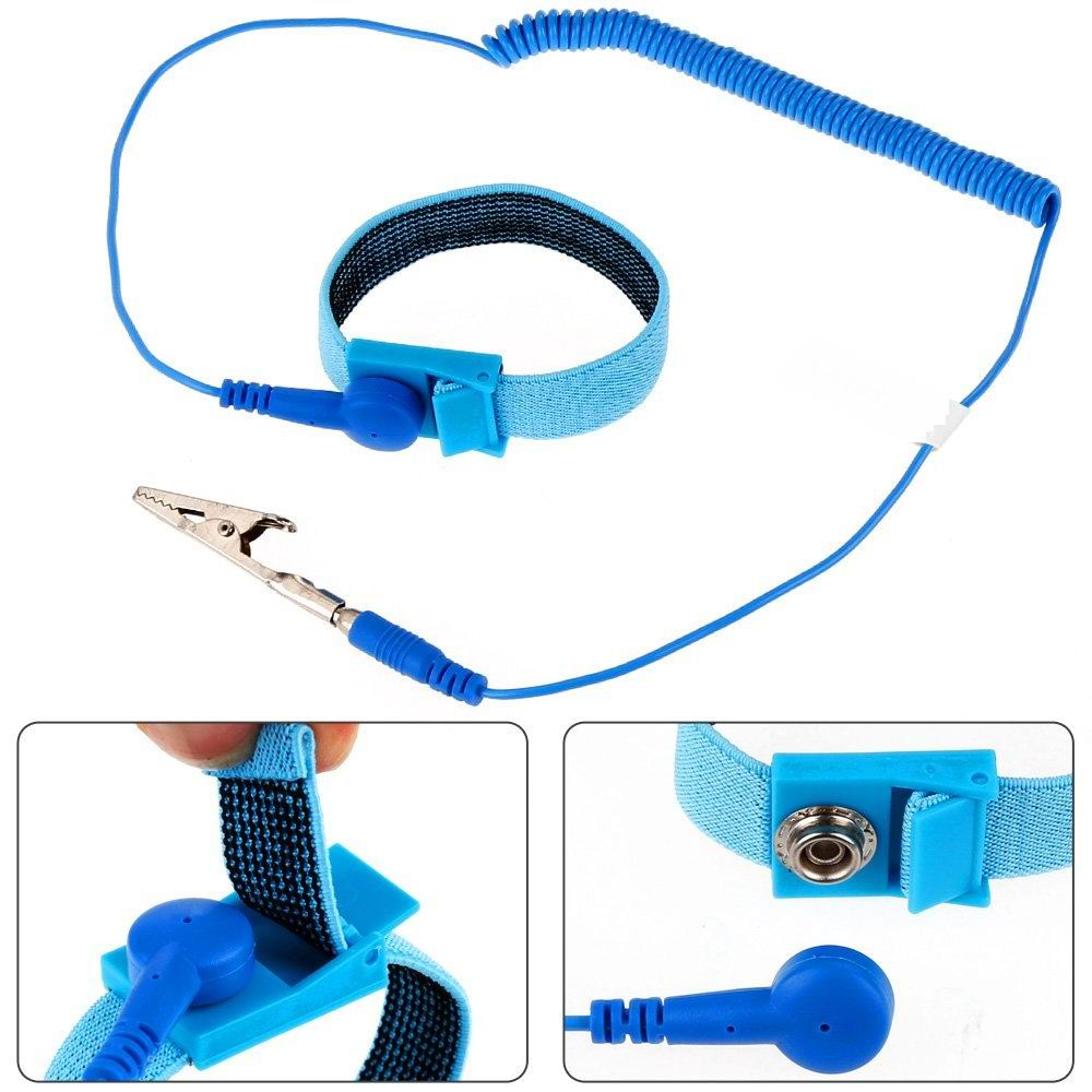 Smart Electronics Back To Search Resultsconsumer Electronics Esd Wrist Strap Alligator Clip Anti Static Discharge Band Grounding Prevent Static Shock A Wide Selection Of Colours And Designs