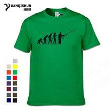 f5dc80d5 New 2018 Fashion Evolution Fishinger T Shirt Men Summer Fish Joke Fisherman  Carp T shirts Funny Gift Cotton Short Sleeve T-shirt