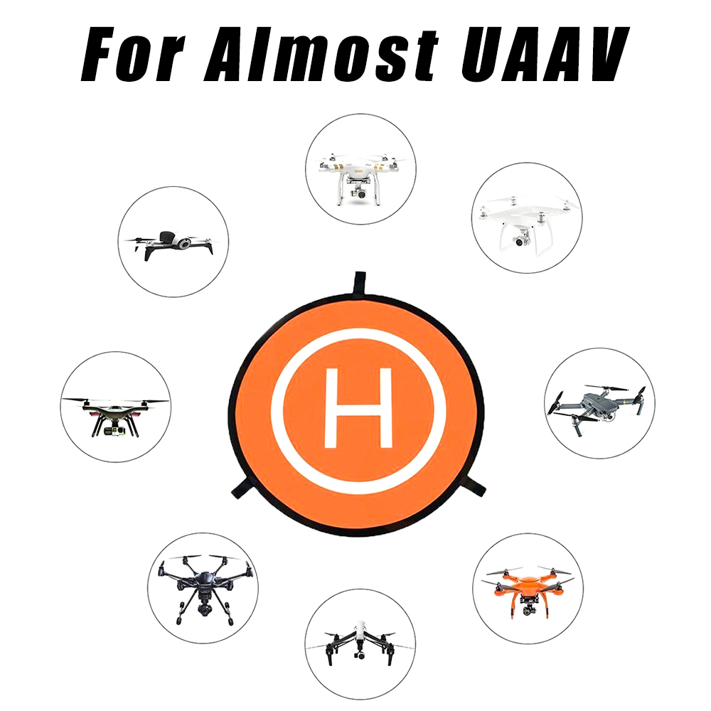 New 55/75/110cm Helicopter Landing Pad Luminous Reflective Paste Folding Dual Sides for Vehicle RC Drone Landing Pad Mat Helipad drone helipad