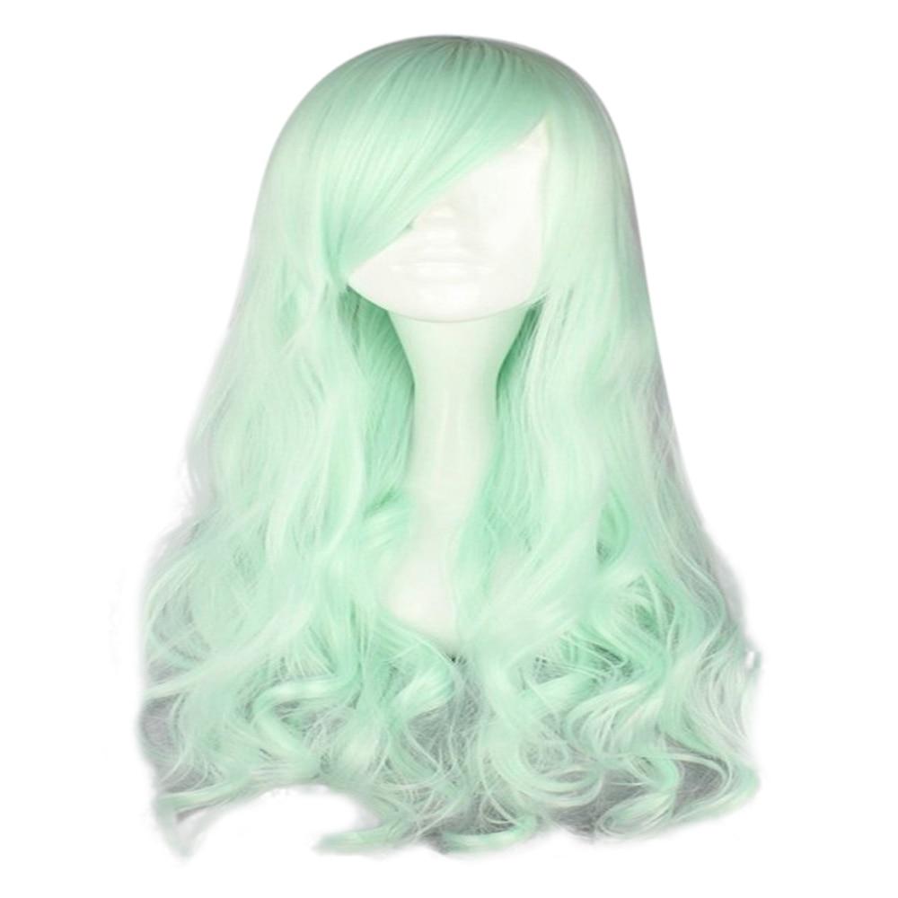 HAIRJOY Synthetic Hair Zipper 70cm Long Wavy Harajuku Lolita Cosplay Wig 18 Colors Available 6
