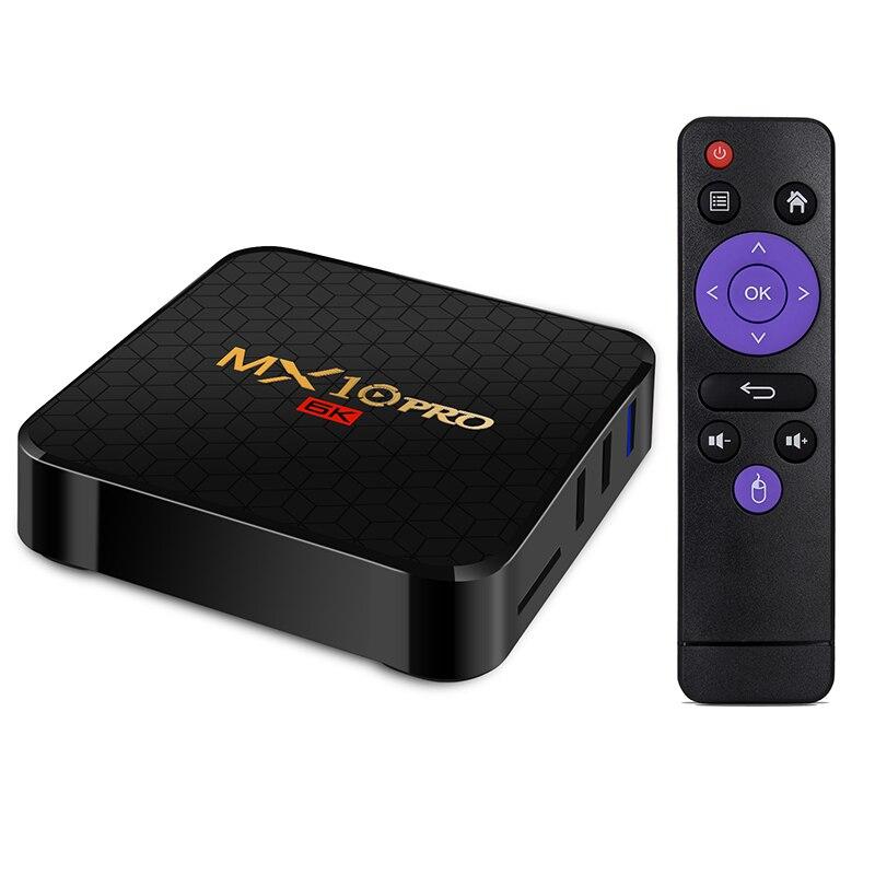 6K TV Box MX10 Pro Android 9 Tvbox Allwinner H6 Quad Core 4GB 32GB 64GB 2.4G WiFi USB3.0 Support 6K * 4K H.265 lecteur multimédia intelligent