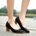 New fashion summer style women's shoes high heel bayan ayakkabi thick heel elegant women office shoes 2016 wedding shoes white
