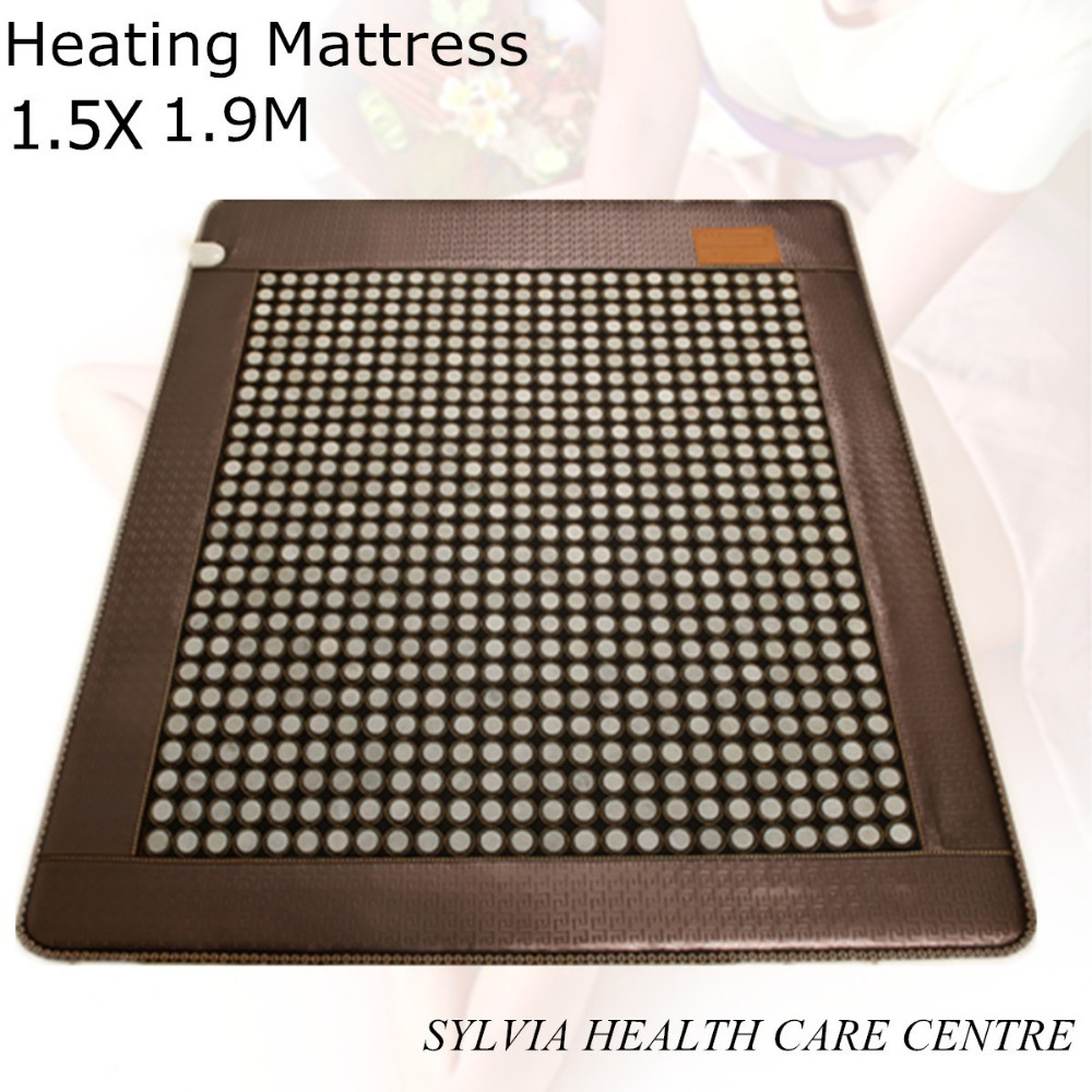 NEW Korea Jade Heating health Mattress heating Health Care Thermal good sleeping Jade Mattress with free eye cover 1.5X1.9M health care product for 2017 korea heated mattress heat mat with stones jade heating jade mattresswith free gift eye cover