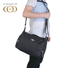 Coofit Повседневное сумка для Для мужчин Водонепроницаемый Оксфорд Сумки через плечо большой Ёмкость сумка с регулируемым ремешком